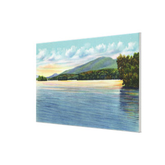 Middle Saranac Lake View of Mount Ampersand Canvas Print