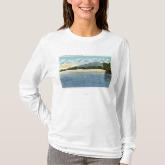 Middle Saranac Lake View of Mount Ampersand T-Shirt