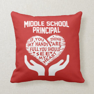 Middle School Principal Cushion
