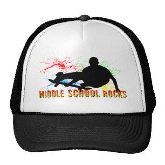 Middle School Rocks - Skateboarder Trucker Hat