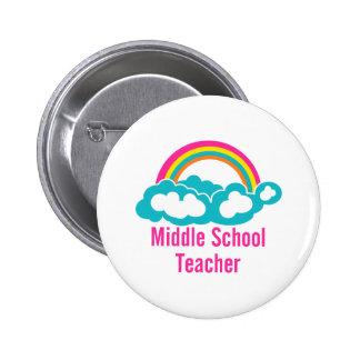 Middle School Teacher 6 Cm Round Badge