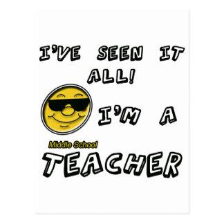 Middle School Teacher Postcard