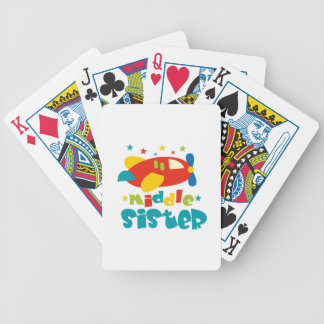 Middle Sister Plane Bicycle Card Deck