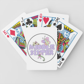 middle sister purple bicycle poker deck