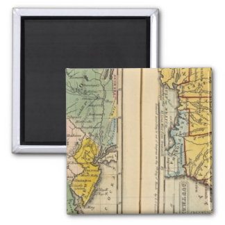 Middle & Southern States Square Magnet