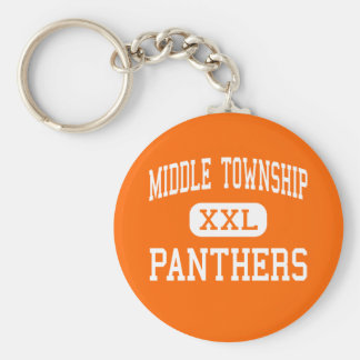 Middle Township - Panthers - Cape May Court House Basic Round Button Key Ring