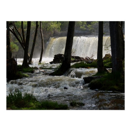 Middlebury Falls in Middlebury, Vermont Poster