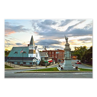 Middlebury, Vermont, at Sunset Photo Print