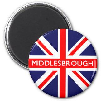 Middlesbrough UK Flag 6 Cm Round Magnet