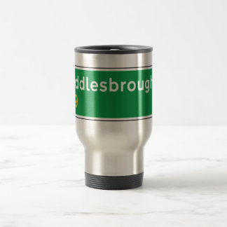 Middlesbrough, UK Road Sign Travel Mug