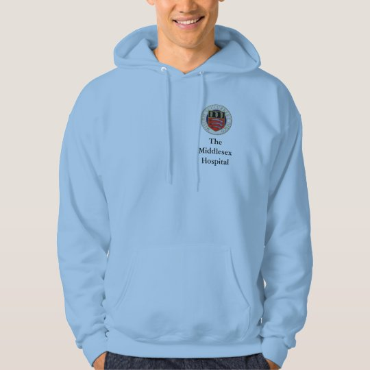 Middlesex Hospital Pale Blue Hoodie (badge+title)