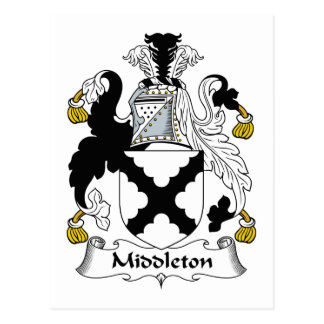 Middleton Family Crest Postcard