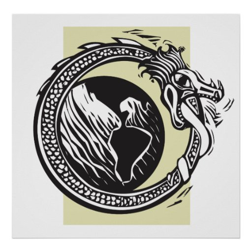 Midgard Serpent and Earth Posters