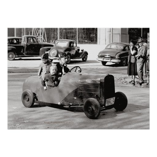Midget Car McMinnville Tennessee 1949 Poster