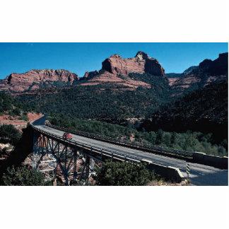 Midgley Bridge, Oak Creek Canyon, highway 89A, Ari Standing Photo Sculpture