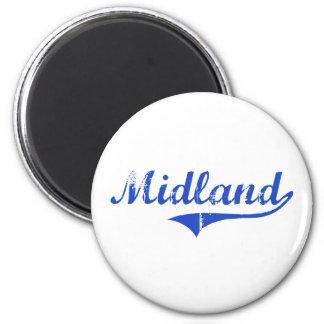 Midland City Classic 6 Cm Round Magnet