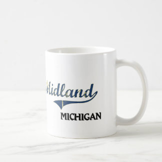 Midland Michigan City Classic Basic White Mug