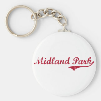 Midland Park New Jersey Classic Design Basic Round Button Key Ring