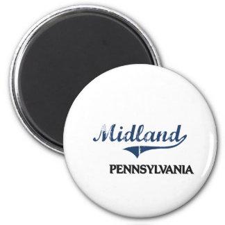 Midland Pennsylvania City Classic 6 Cm Round Magnet