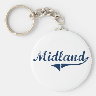 Midland Pennsylvania Classic Design Basic Round Button Key Ring