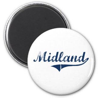 Midland Pennsylvania Classic Design 6 Cm Round Magnet