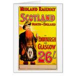 Midland Railway Scotland Bagpipe Kilt Travel Art