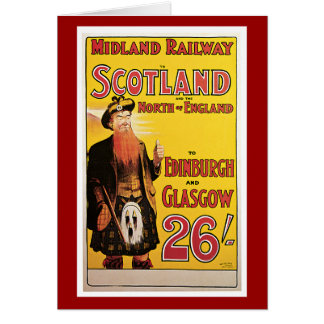 Midland Railway to Scotland Vintage Travel Card