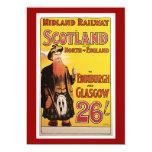 Midland Railway to Scotland Vintage Travel Invite