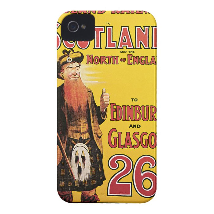 Midland Railway to Scotland Vintage Travel iPhone 4 Case-Mate Cases