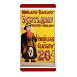 Midland Railway to Scotland Vintage Travel Shipping Label