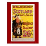 Midland Railway to Scotland Vintage Travel Post Card