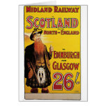 Midland Railway Vintage Travel Poster Greeting Cards