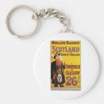 Midland Railway Vintage Travel Poster Key Chain