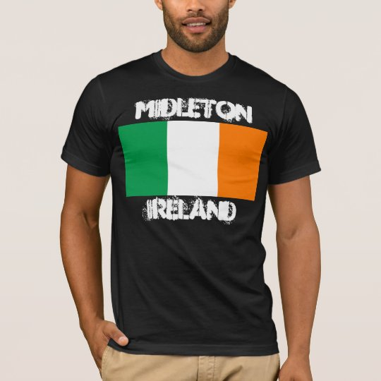 Midleton, Ireland with Irish flag T-Shirt