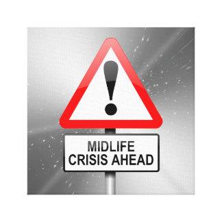Midlife crisis warning. canvas print