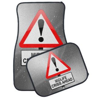 Midlife crisis warning. car mat