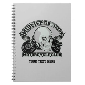 Midlife Cruisers MC custom notebook