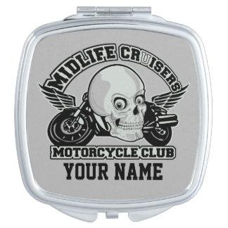 Midlife Cruisers MC custom pocket mirror Travel Mirrors