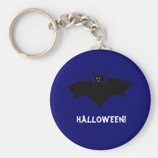 Midnight Bat Basic Round Button Key Ring