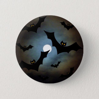MIDNIGHT BATS! ~ 6 CM ROUND BADGE