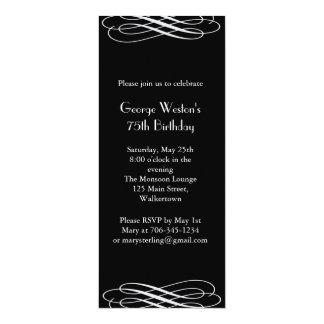 Midnight Birthday Invitation  (black)