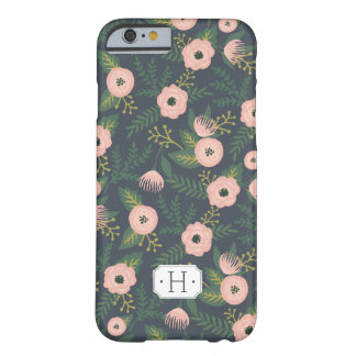 Midnight Blooms Monogram Barely There iPhone 6 Case