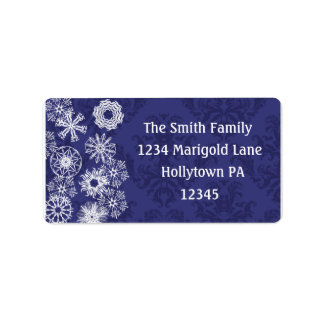 Midnight Blue Address Labels to Customize