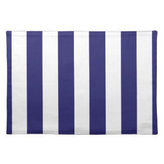 Midnight Blue and White Striped Placemat