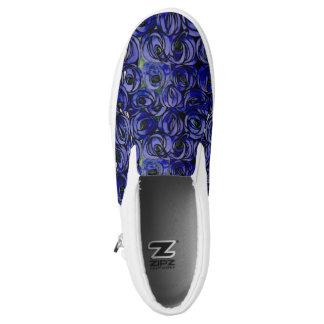 Midnight Blue Glasgow Rose Slip On Sneakers