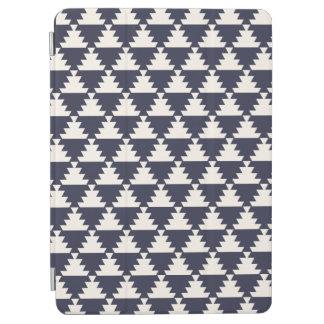 Midnight Blue Modern Aztec Geometric Pattern iPad Air Cover