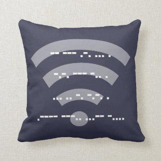 Midnight Blue Morse code design cushion 41cmx41cm