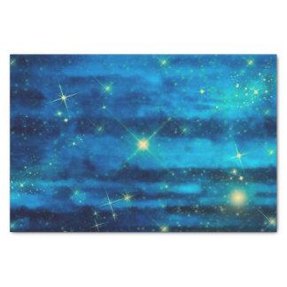 Midnight blue night sky with stars tissue paper