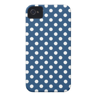 Midnight Blue Polka Dot Iphone 4/4S Case