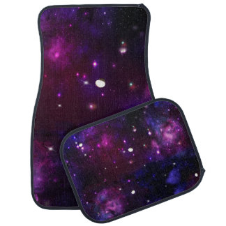 Midnight Blue Purple Galaxy Car Mat